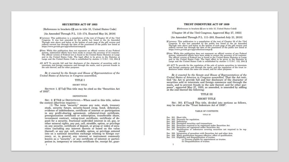 securities act of 1933 and 1939